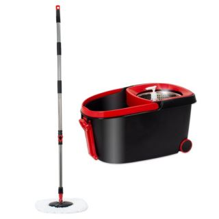 Cubo de Fregona con Escurridor Automático Duett 998120 Negro Rojo