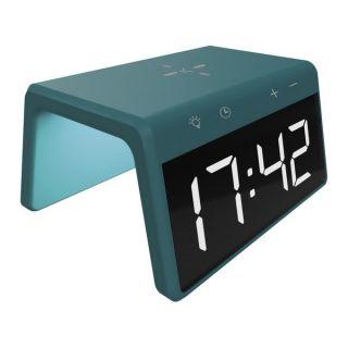 Reloj Despertador con Cargador Inalámbrico KSIX Qi 10W Color Verde