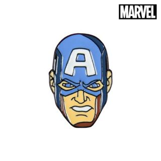 Pin Captain America The Avengers Metal Azul