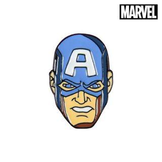 Pin Captain America The Avengers Metal Azul