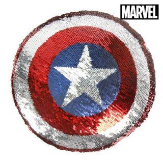 Cojín Sirena Mágica de Lentejuelas The Avengers 74488 Azul (30 X 30 cm)