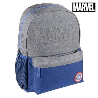 Mochila Escolar Captain America The Avengers Azul marino Gris