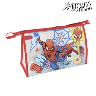 Neceser Escolar Spiderman (6 pcs) Rojo Azul