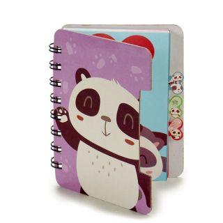 Libreta Pincello (12 x 1 x 9,2 cm) Oso Panda