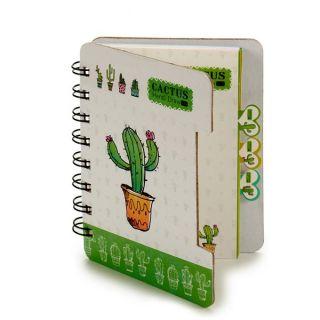 Libreta Pincello (12 x 1 x 9,2 cm) Cactus