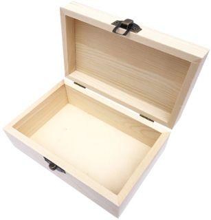 Caja Madera Rectangular de Pino Mediana 15x10x6.5 cm
