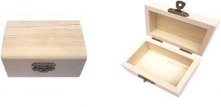Caja de Pino Arqueada Caja Madera