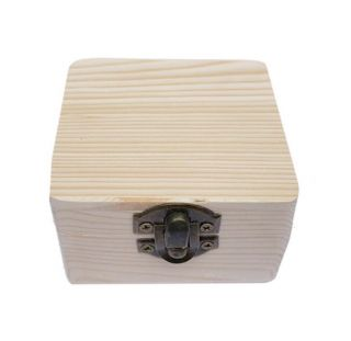 Caja Madera Pino con Cerradura 8*8*5cm