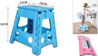 Taburete Infantil 22x29x39cm Taburete Plegable para niños Color Surtido Azul/Rojo/Rosa