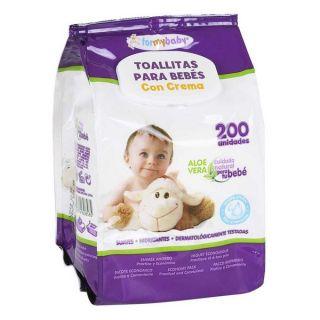 Toallitas para Bebés con Crema (200 uds)