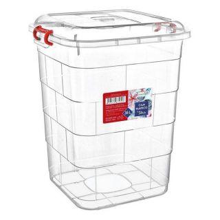 Caja de Almacenaje con Tapa Confortime 41 x 35 x 44 cm - 35 L