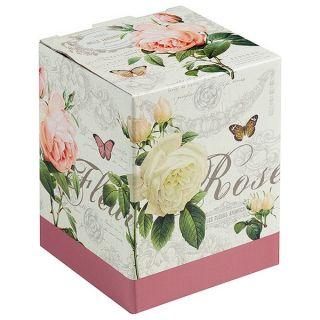 Taza con Filtro para Infusiones Flores Rosas