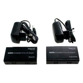 Cable Extensión HDMI a LAN RJ45 approx! APPC14V2 1080 px (50 m) Negro