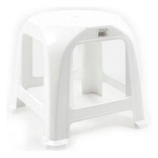 Taburete Step Plástico Blanco (34 X 34 x 31 cm)