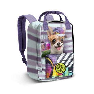Mochila Krazy Mals Dash Chihuahua (38 x 27 x 18 cm)
