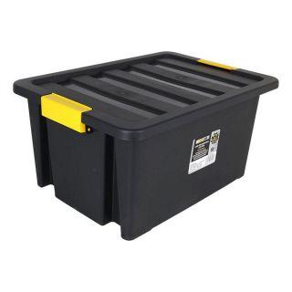 Caja de Almacenaje con Tapa Brico 55 L Negro