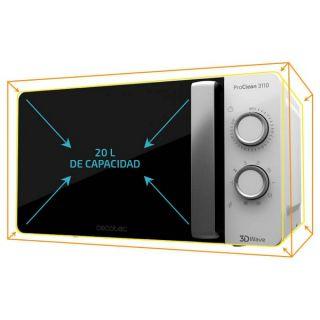 Microondas con Grill Cecotec ProClean 3110 20 L 700W Blanco