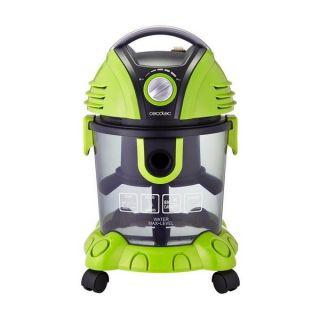Aspiradora sin Bolsa Cecotec Conga Wet&Dry 1400W 15L Verde Negro