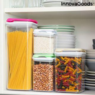 Set de Recipientes de Cocina Herméticos Apilables Pilocks InnovaGoods 4 Piezas
