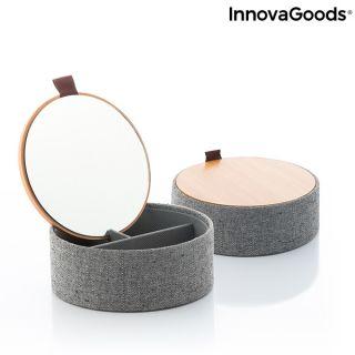 Joyero Organizador de Bambú con Espejo Mibox InnovaGoods