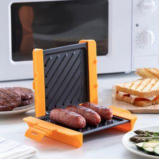 Grill para Microondas Grillet para salchichas bacon pollo pescado sándwiches Innovagoods