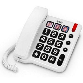 Teléfono Fijo para Mayores SPC 3294 Blanco