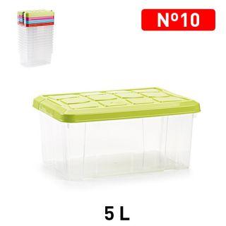 Caja para ordenación Pequeño con Tapa cierres de asa a presión Plastic Forte Nº10