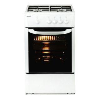 Cocina de Gas BEKO 165510 CSG 42009 DW 9500W 50 cm Blanco