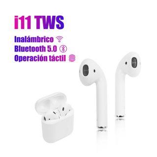 Auriculares I11 TWS Bluetooth Función Táctil Headset con Caja de Carga