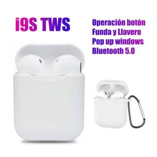 Auriculares Inalámbricos i9S Deportivos V5.0 con Caja de Carga y Botón