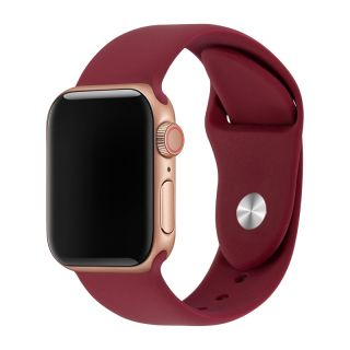 Correa Deportiva para Apple Watch 42/44 mm Apple Watch 3 Apple Watch Serie 5 Correa Silicona de Reloj Color Vino