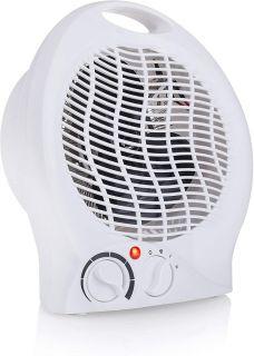 Calefactor con Ventilador Eléctrico y 3 Funciones Ajustables Termostato Regulable 2000W