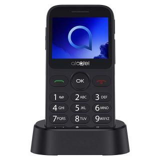 Teléfono Móvil Alcatel 20.19G para Personas Mayores/ Plata Metal