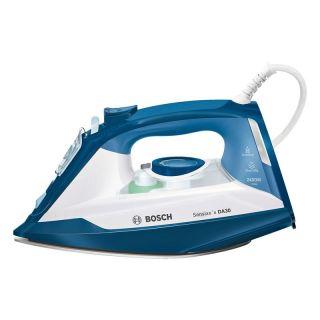 Plancha de Vapor Bosch Sensixxx Da30 Azul Y Blanco - 2400W - Supervapor 150G - Suela Ceranium Glisse - Deposito 320Ml - Anticalc Integrado - Antigoteo