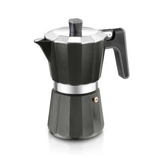 Cafetera Bra Perfecta Black A170486 - 9 Tazas - Aluminio - Fondo para Inducción Total - Apta Todo Tipo Cocinas