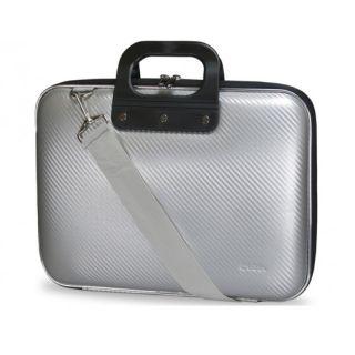 Maletín E-Vitta Bag Carbón Silver - para Portátiles Hasta 15.6'/39.6 Cm - Cierre Doble Cremallera - Correa Hombro Ajustable - Asa de Mano