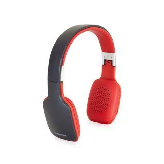 Auriculares Bluetooth Fonestar Slim-R Gris/Rojo - Bt 4.2 - Drivers 40Mm - Batería Recargable - Jack 3.5 para Uso Con Cable