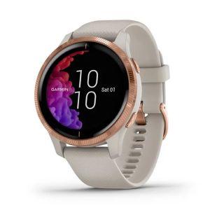 Reloj Deportivo Con Gps Garmin Venu Beige/Gold Rose - Bt - Garmin Pay - Notificaciones - Salud - Multisport - Android/Ios