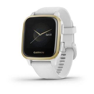 Reloj Deportivo Con Gps Garmin Venu Sq Light Gold / Correa Silicona Blanco - Pantalla 3.31Cm - Multisport - Control Salud - 5Atm - Garmin Pay