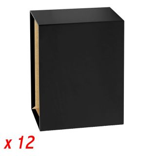 12 Cajas para Archivador A4 75 Mm - Negro - Grafoplas