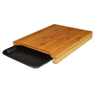 Tabla de Cortar Jocca 1635 - Plástico Y Bambú - Incluye Bandeja para Depositar Los Productos
