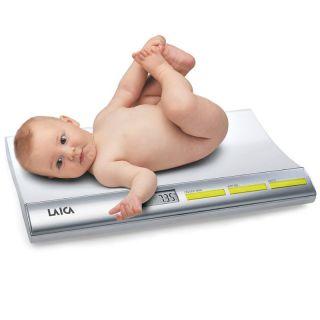 Báscula para Bebés Digital Laica Ps3001 - Peso Max 20Kg - Lcd 7.8*2.8 Cm - 4*1.5V Aaa - Funciones Tara/Bloqueo