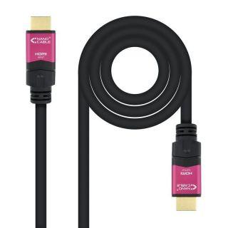 Cable Hdmi Nanocable 10.15.3720 20 Metros - Alta Velocidad V2.0 - Conectores Hdmi (Tipo A) Macho - Repetidor para Amplificar Señal - Negro