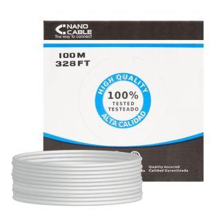Bobina de Cable Nanocable 10.20.0902 - Rj45 - Cat6 - Ftp - Awg24 - 100M - Gris