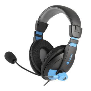 Auriculares Diadema Ngs Msx9 Pro Blue - Estéreo - Micrófono Cancelación Ruidos - 20Hz-20Khz - 108Db - Jack - Cable 2.2M