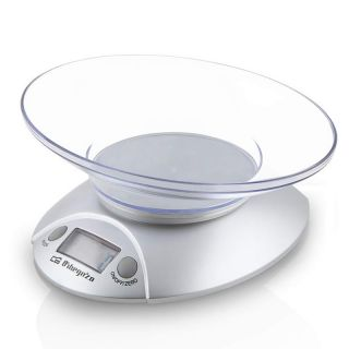 Báscula de Cocina Orbegozo Pc 1009 - Hasta 3 Kg - Precisión 1G - Display Lcd 17.5Mm - Bol Transparente