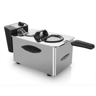 Freidora Profesional Orbegozo Fdr 45 - 2000W - 4 Litros - Termostato Regulable - Tapadera Extraible - Acero Inoxidable