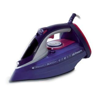 Plancha de Vapor Orbegozo Sv 3000 - 3000W - Capacidad 0.45L - Golpe de Vapor 230G/Min - Vapor Continuo 55G/Min - Suela Ceramica