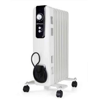 Radiador de Aceite Orbegozo Rh 1500 - 7 Elementos Caloríficos - 3*Potencias Calor (600-900-1500W) - Termostato Regulable - Ruedas Pivotantes