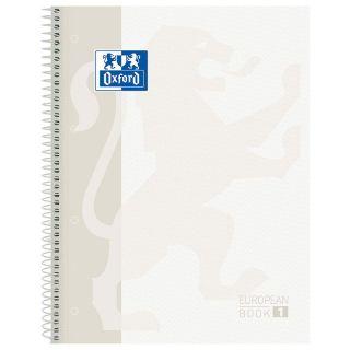 Libreta Oxford Europeanbook 1 Blanco Classic A4+ - Tapa Extradura - 80 Hojas - Rayado Cuadricula 5*5 - 90gr